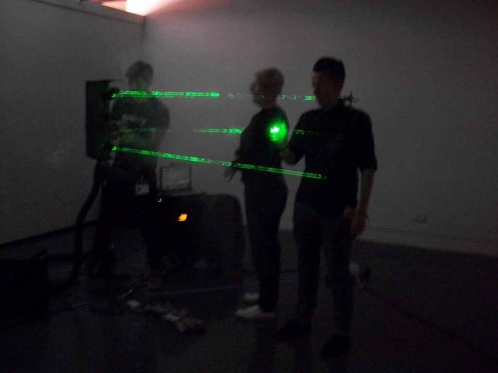 Photo, laser drum kit at the National Media Museum